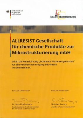 Urkunde EWO 2009_klein