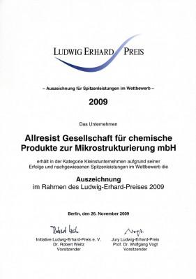 Urkunde LEP 2009_klein