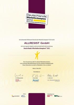 Urkunde Mitarbeiterchampion 2012_klein