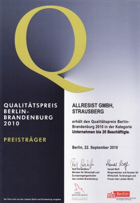 Urkunde Qualitaetspreis 2010_klein