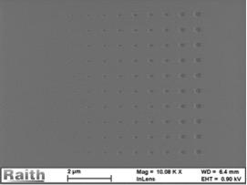 30-150nm-Quadrate-CSAR 62-auf-Glas